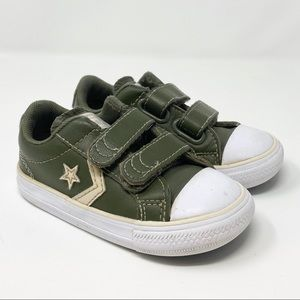 Converse // Green Leather Star Player Low Top